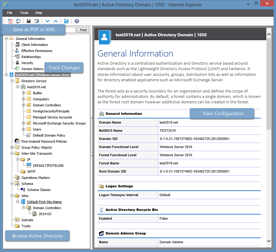 Active directory documentation tool group policy audit for Web documentation software