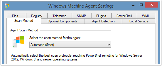 Windows machine automatic scan screenshot
