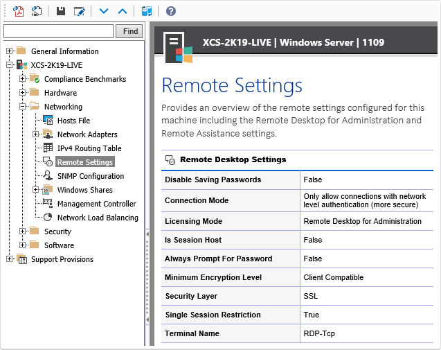 Windows Remote Settings