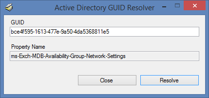GUID resolver screenshot