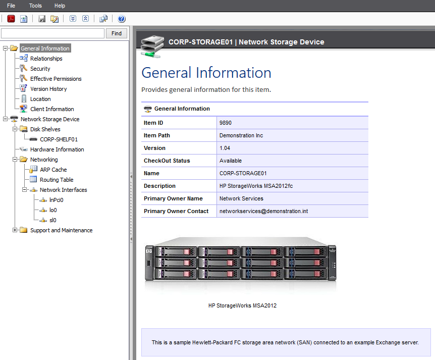 Screenshot of network storage device settings in the XIA Configuration web interface
