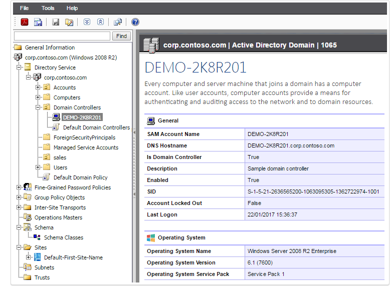 Active Directory Computer screenshot