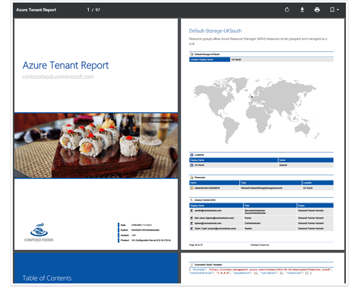 Microsoft Azure Tenant document screenshot