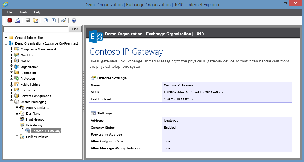 Screenshot of IP Gateway settings in the XIA Configuration web interface