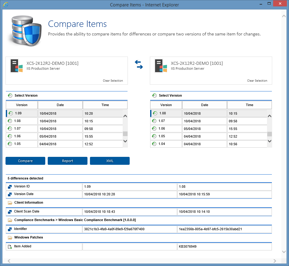 Screenshot showing a Windows Patch has been added to this Windows server