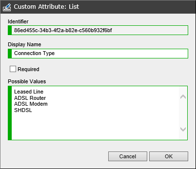 Custom drop down list attribute