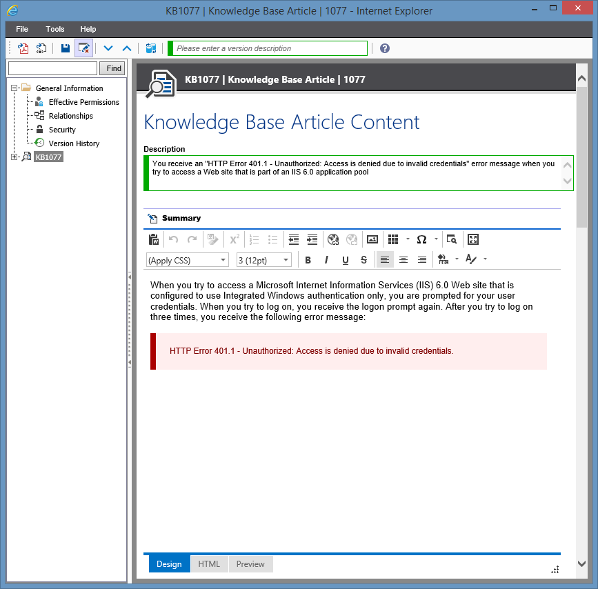 Screenshot showing Windows Machine document generation options in the XIA Configuration web interface
