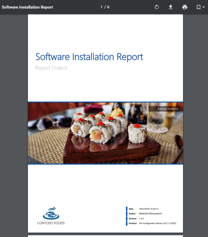 Windows Machine Software Installation Report