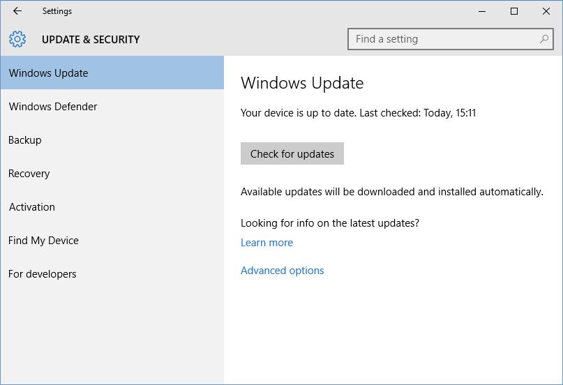 Error reading Windows Update history - 0x80240FFF